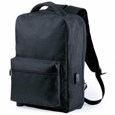 Anti diefstal gymtas/rugzak zwart 13 liter