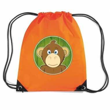Apen gymtas / gymtas oranje voor kinderen