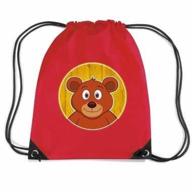 Beren gymtas / gymtas rood voor kinderen