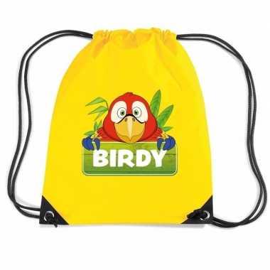 Birdy de papegaai gymtas / gymtas geel voor kinderen
