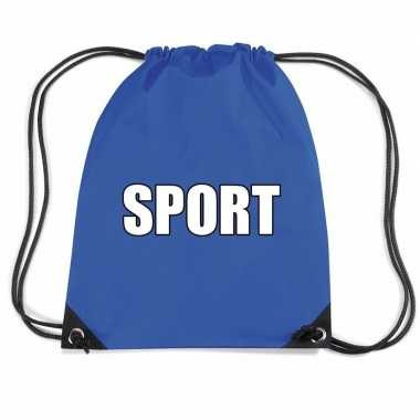 Blauw sport gymtas/ gymtasje kinderen