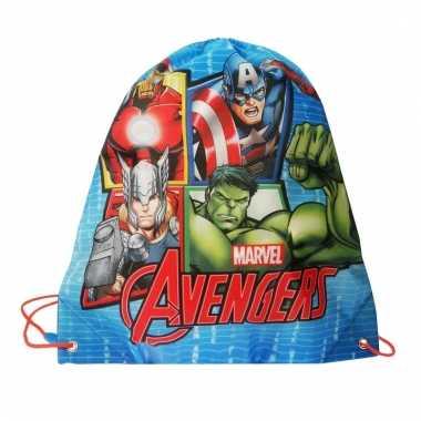 Blauwe avengers gymtasjes voor jongens