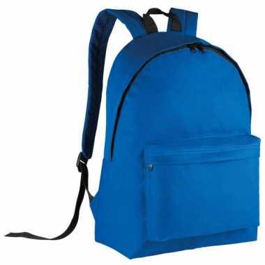 Blauwe gymtas rugzak voor kids 38 cm