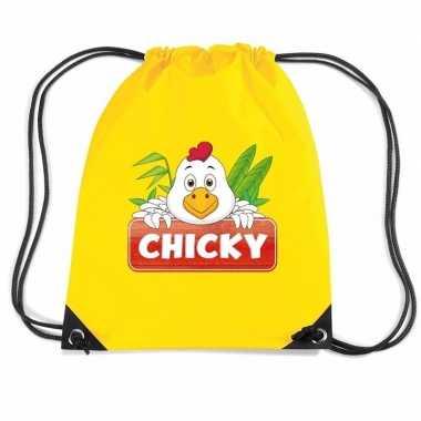 Chicky de kip gymtas / gymtas geel voor kinderen