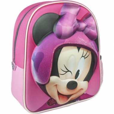 Disney minnie mouse rugzakken/gymtassen 25 x 31 cm voor meisjes/kinde