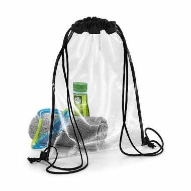 Doorzichtig gymtas/rugzakje 11 liter