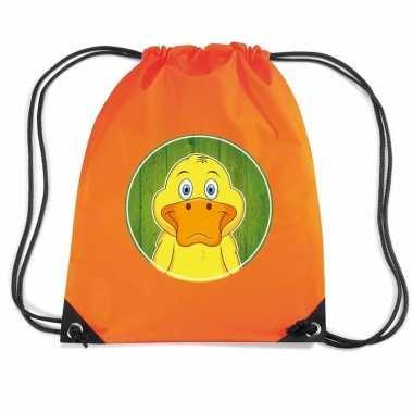 Eenden gymtas / gymtas oranje voor kinderen