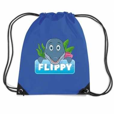 Flippy de dolfijn gymtas / gymtas blauw voor kinderen