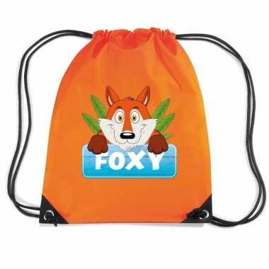 Foxy de vos gymtas / gymtas oranje voor kinderen