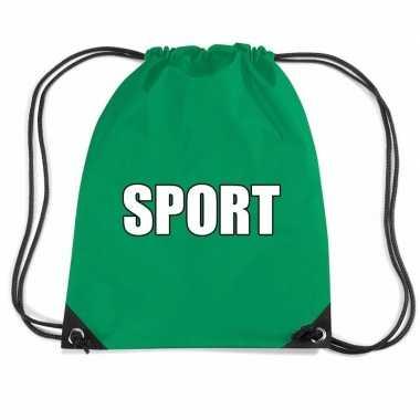 Groen sport gymtas/ gymtasje kinderen