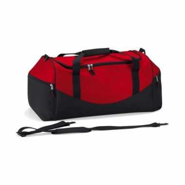 Grote gymtas rood/zwart