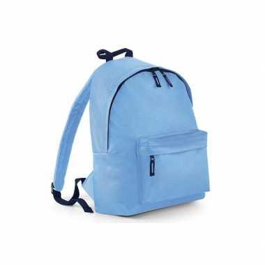 Gymtas blauw met18 liter inhoud