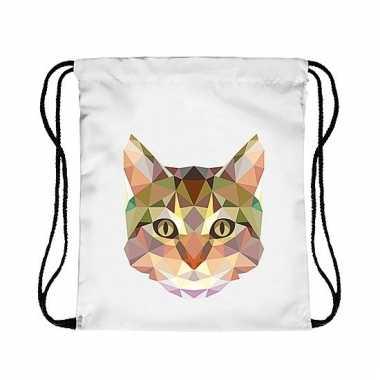 Gymtas met katten/poezen kop