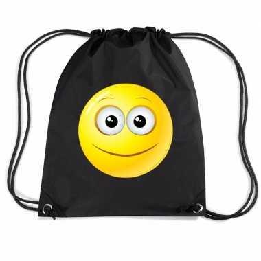 Gymtas met rijgkoord emoticon vrolijk