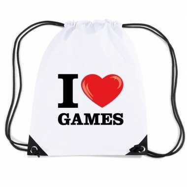 Gymtas met rijgkoord i love games