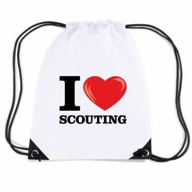 Gymtas met rijgkoord i love scouting