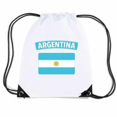 Gymtas met rijgkoord vlag argentinie