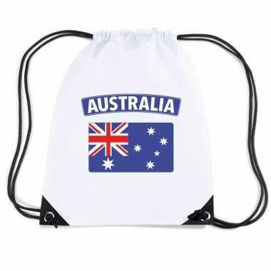 Gymtas met rijgkoord vlag australie