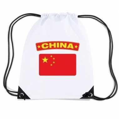 Gymtas met rijgkoord vlag china