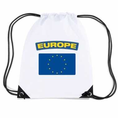 Gymtas met rijgkoord vlag europa