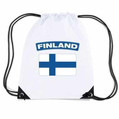 Gymtas met rijgkoord vlag finland