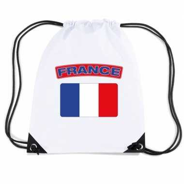 Gymtas met rijgkoord vlag frankrijk