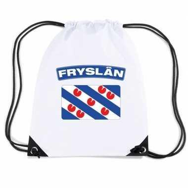 Gymtas met rijgkoord vlag friesland