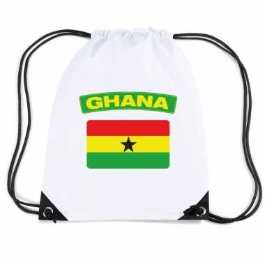 Gymtas met rijgkoord vlag ghana