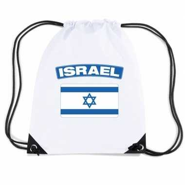 Gymtas met rijgkoord vlag israel