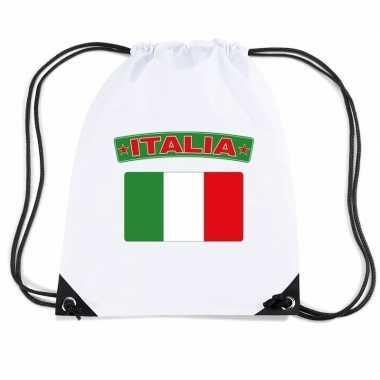 Gymtas met rijgkoord vlag italie