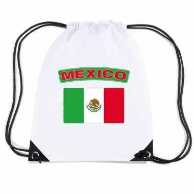 Gymtas met rijgkoord vlag mexico