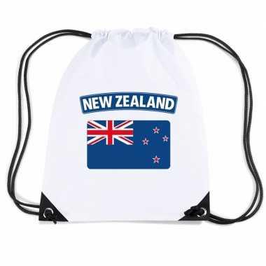 Gymtas met rijgkoord vlag nieuw zeeland