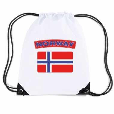 Gymtas met rijgkoord vlag noorwegen
