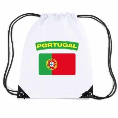 Gymtas met rijgkoord vlag portugal