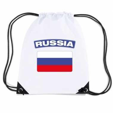 Gymtas met rijgkoord vlag rusland
