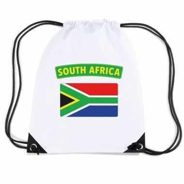 Gymtas met rijgkoord vlag zuid afrika