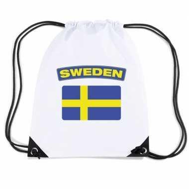 Gymtas met rijgkoord vlag zweden