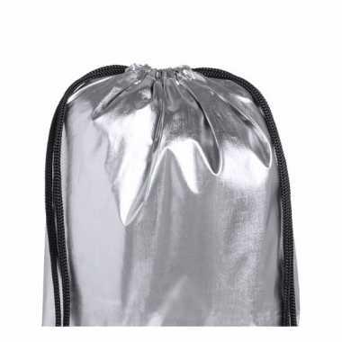 Gymtas metallic zilver