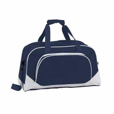 Gymtas navy blauw 42 cm