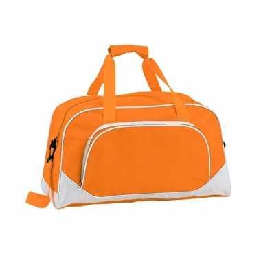 Gymtas oranje 42 cm
