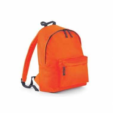 Gymtas oranje met18 liter inhoud