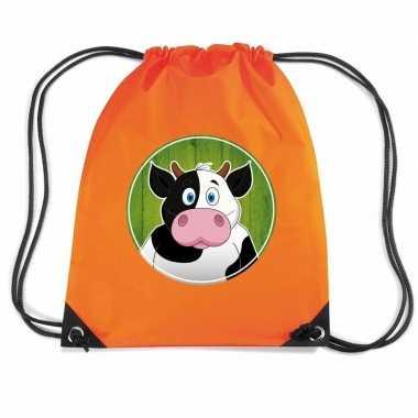 Koeien gymtas / gymtas oranje voor kinderen