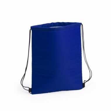 Koel gymtas blauw met rijgkoord