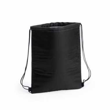 Koel gymtas zwart met rijgkoord