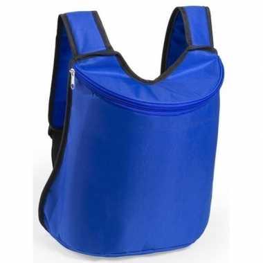 Koeler koeltassen blauw 40 cm gymtasje/rugzakje
