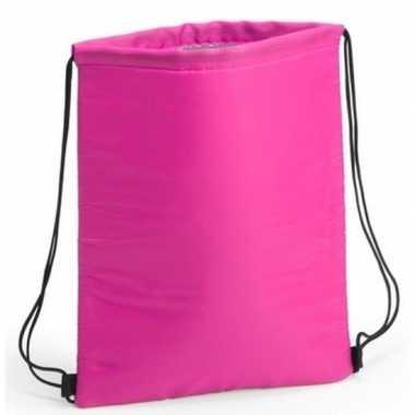 Koeler koeltassen fuchsia roze 32 x 42 cm gymtasje/rugzakje