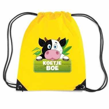Koetje boe koeien gymtas / gymtas geel voor kinderen