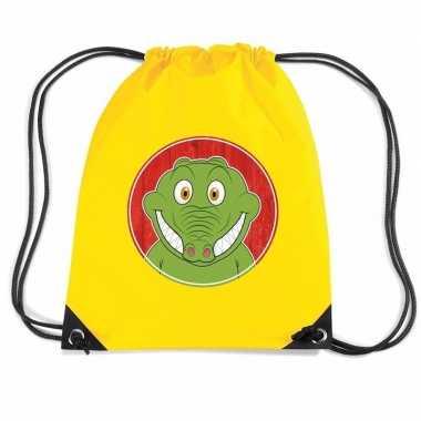 Krokodillen gymtas / gymtas geel voor kinderen