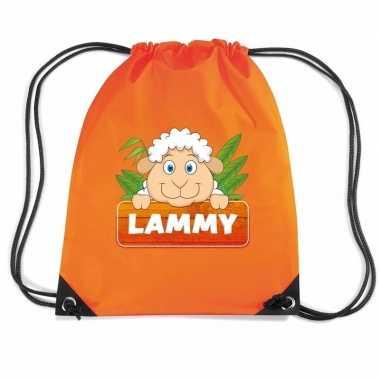 Lammy het schaap gymtas / gymtas oranje voor kinderen