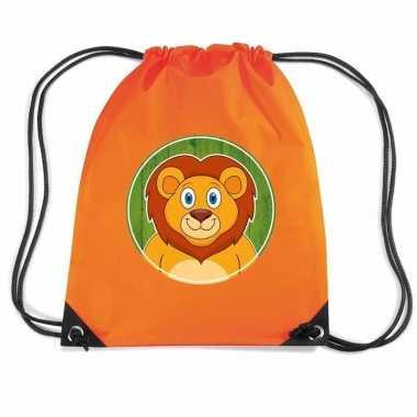 Leeuwen gymtas / gymtas oranje voor kinderen